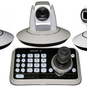 Qty 3 Color HD PTZ Robotic Video Cameras with Controller SDI or HDMI