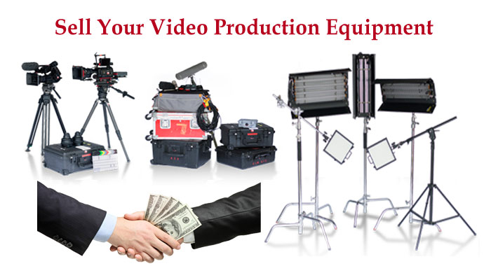Sell your video equipment, broadcast audio gar, lighting, tripods and more.