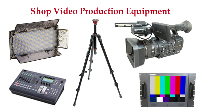 Shop for video production equipment, broadcast audio gear, lighting, tripods and more.