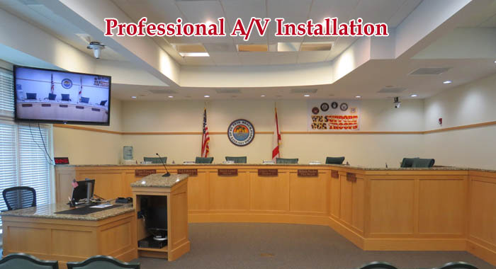 A/V Installation by Hi-Tech Enterprises, Inc. 727-573-9600.