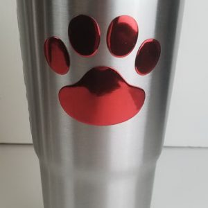 30oz Stainless Steel Tumbler with 3D Dog Paws Spill Proof Design Thermal lid
