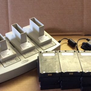 Telex BC800NM 4 Charger & (12) Batteries
