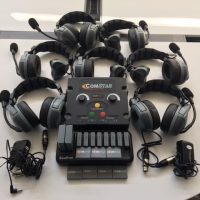 ComStar EARTEC Intercom System - 7 Headsets/Batteries Included