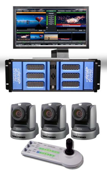 HD Live Streaming Video Switcher and Video Camera Production Package