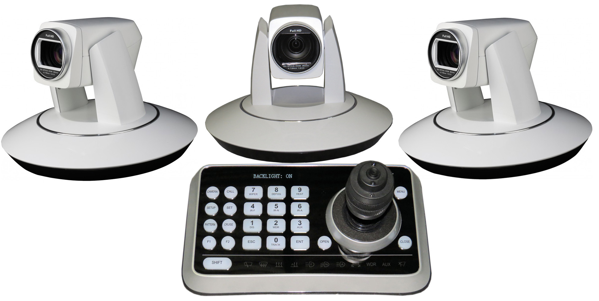 3x hd color ptz robotic video cameras with controller for Camera and camera