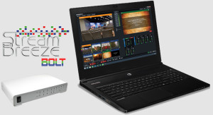 Stream Breeze Bolt portable video production switching and streaming system