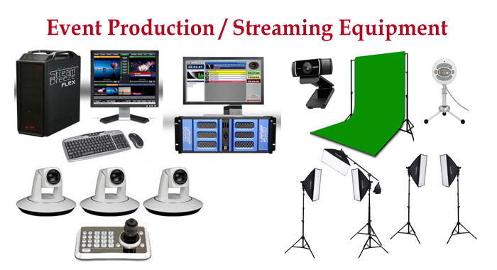 Live video production streaming equipment, cameras, switchers and more.