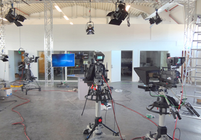 Equipment Installation in a Television studio