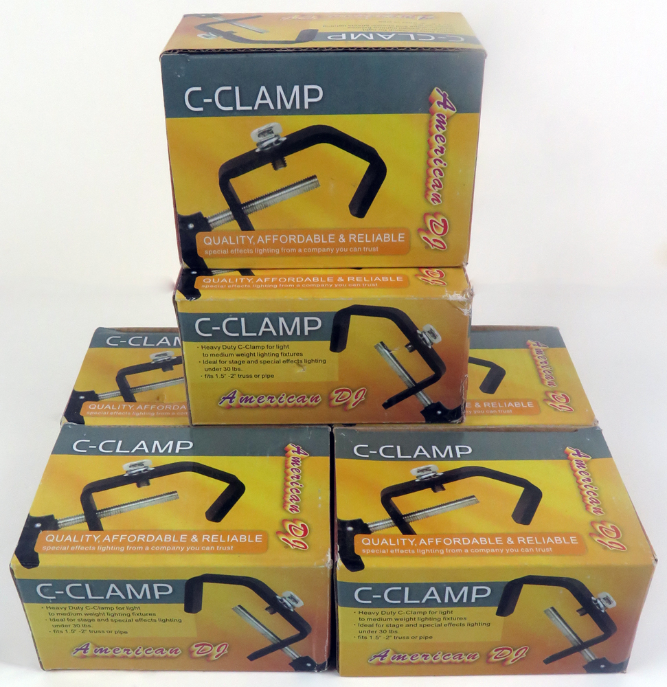 Lot of 6 American DJ C-Clamps