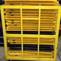 27 Bumble Bee Heavy Duty Cable Ramps with custom Rolling rack
